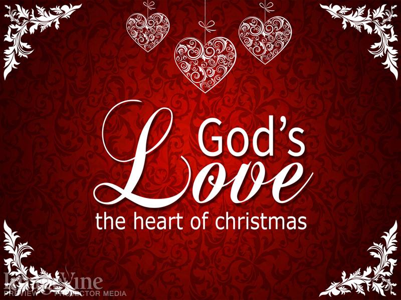 Vintage Christmas Gods Love Title