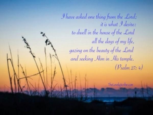 psalm 27.4b